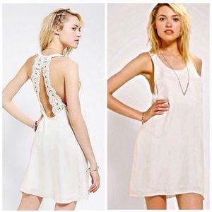 NINAS BY STONE COLD FOX CROCHET IVORY DRESS SZ M